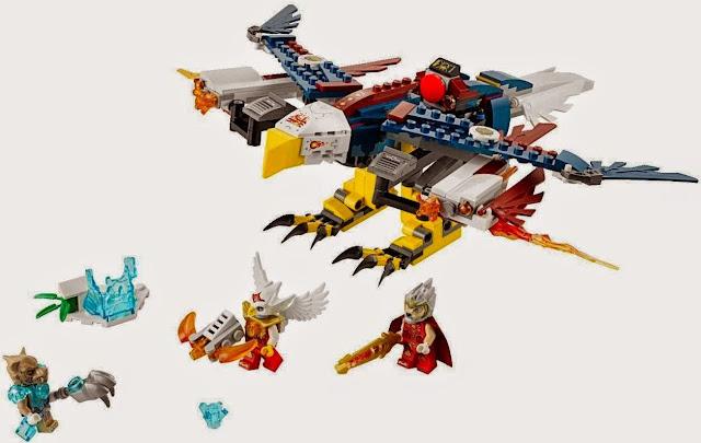 Đồ chơi trẻ em: Xếp hình Lego Chima 70142 Eris' Fire Eagle Flyer - Máy bay Chiến đấu Lửa của Eris