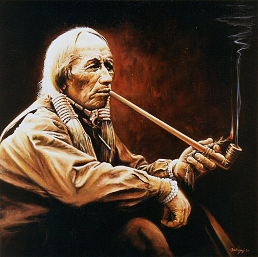 Indian With the Pipe, de Joseph-Art