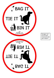 Dorset dog show - A5 bag it, tie it, bin it - double sided for dog shows