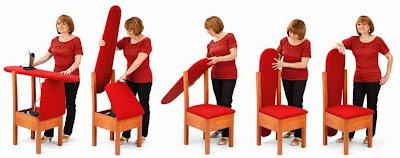 Mesa de planchar camuflable