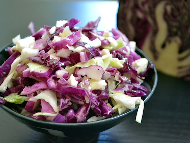 vinaigrette coleslaw with feta