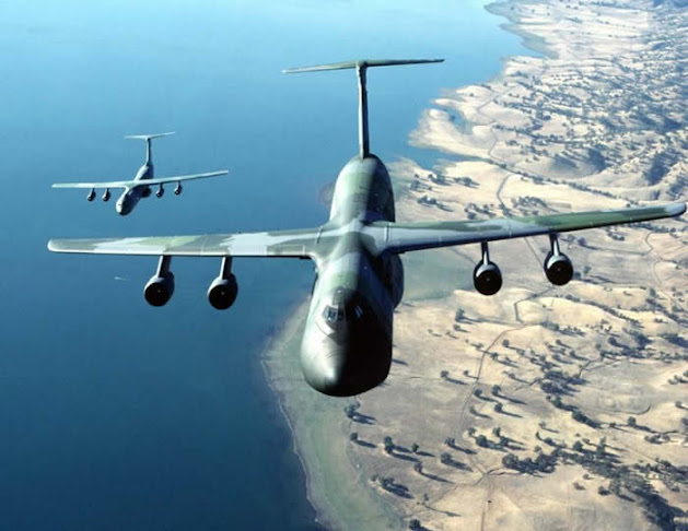 C-5 Cargo Aircraft in Flight