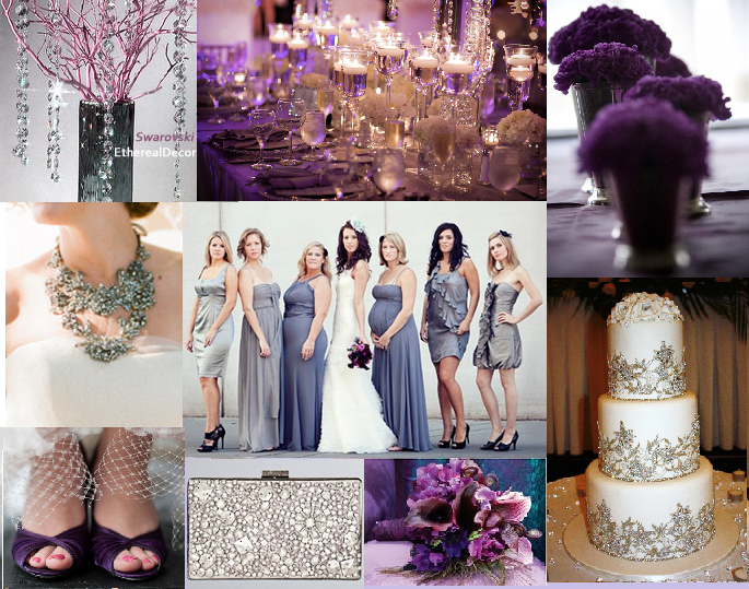 Purple And Champagne Wedding Colors