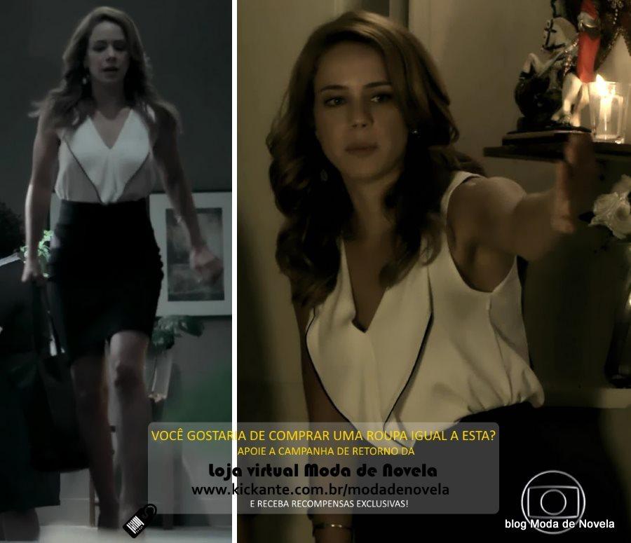 moda da novela Império, look da Cristina dia 27 de fevereiro de 2015