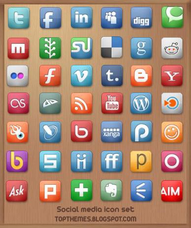 Social Media Icon Set  [ Free Icons ]