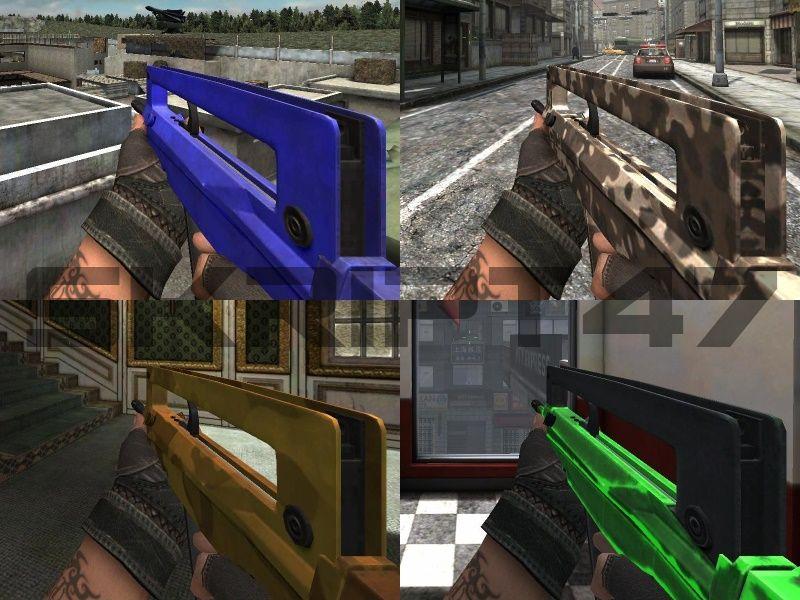 FAMAS G2 Blue, Camo, Sandman and Green Glow Pack для PB