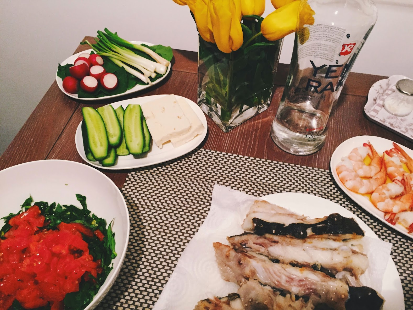 fish dinner table