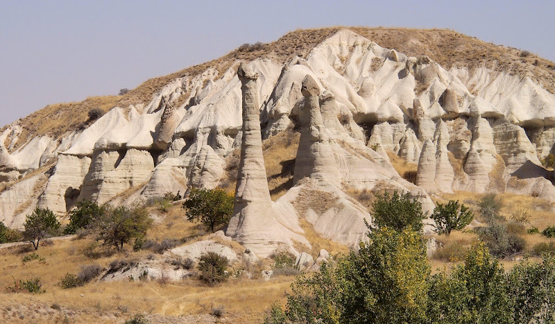 The beginning of Love Valley (Honey Valley) in Cappadocia