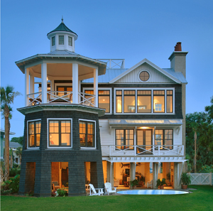 Seaside style lighthouse inspired living for Lighthouse home plans