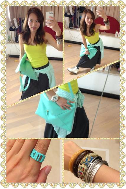 [Outfit] 運動感之穿搭 - 最愛湖水綠
