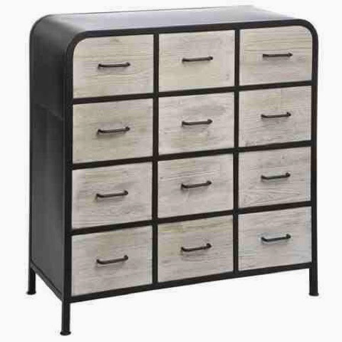 Wood and Metal 1 drawer cabinet