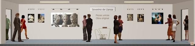 Sala de exposición virtual de pinturas de Severino de Llanza