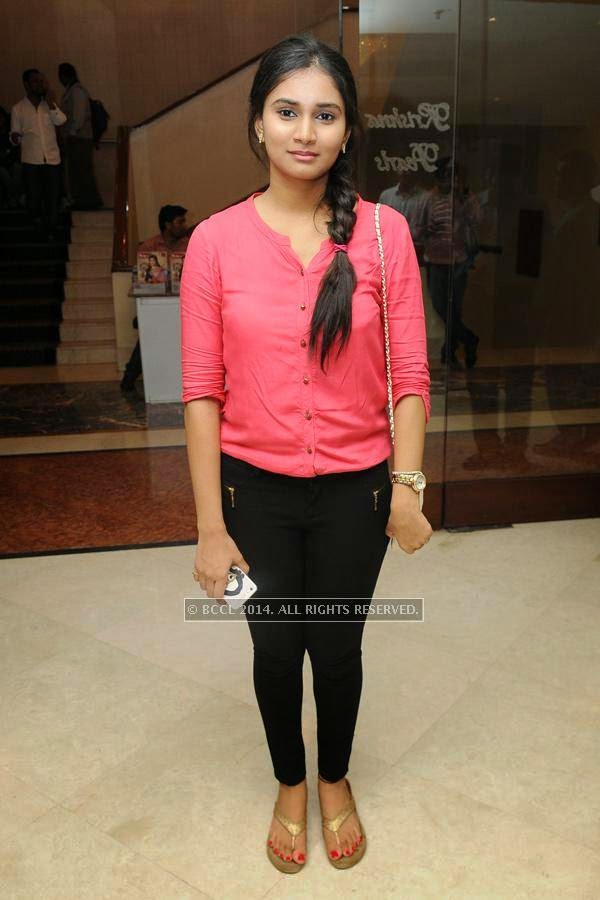 Manisha during a lifestyle exhibition, in Hyderabad.