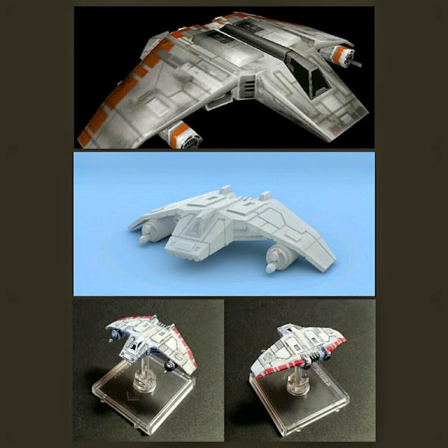 Aerodeslizador V-Wing de Mel Miniatures