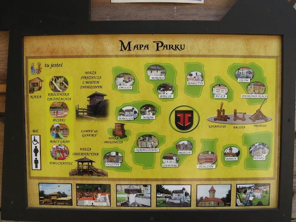park zamków jurajskich - mapa