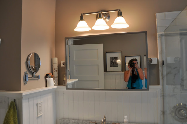 Pottery Barn Swivel Mirror We Needed Something To Go Above The Wainscot Top Rail