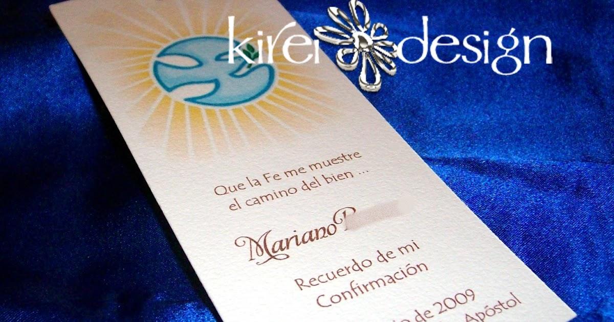 Modelos de tarjetas de Comunión y Confirmación KIREIDESIGN