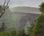Misty Bridge - Original Painting