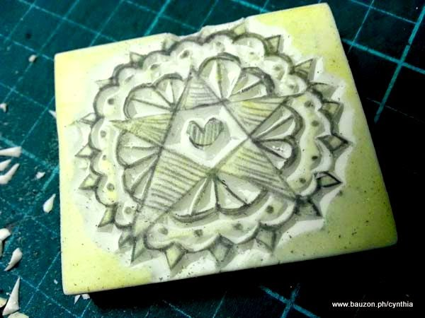 how to carve an eraser stamp tutorial