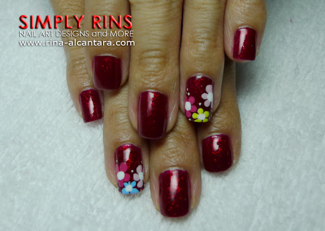 red nail art design 05