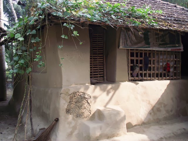 Bangladesh village clay house