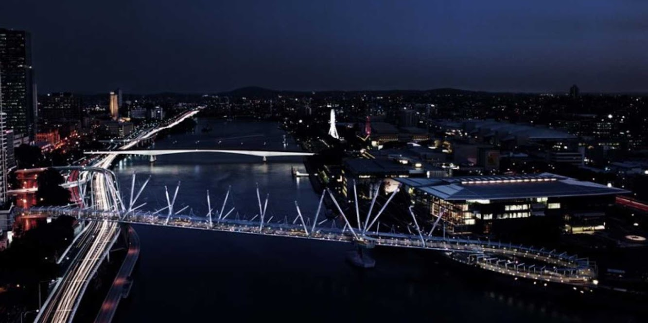 Brisbane Queensland, Australia: Kurilpa Bridge by Cox Architecture