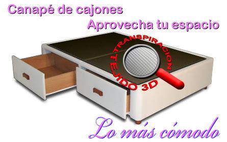 Oferta colchones Flex con camas con cajones o Canapé con cajones laterales