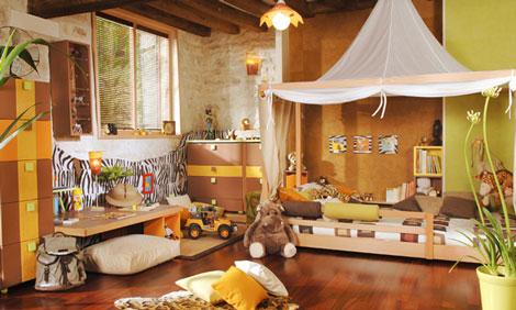 Decoracion dise o decoraci n dormitorios safari para ni os for Habitaciones nina baratas