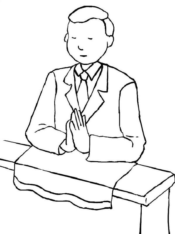 Dibujos Católicos : Niño primera comunión para colorear