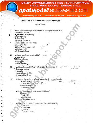 Free Haad Exam Question Paper For Lab Technician