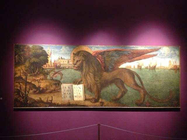 Picture of the Lion of St Mark by Vittore Carpaccio in Palazzo Ducale, Venice.