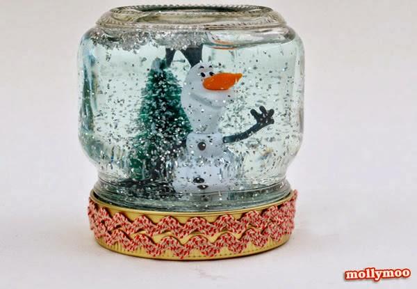 Globo de neve pote de vidro
