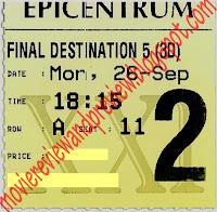 Final Destination 5 3D Ticket