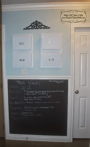 Chalkboard Framed Wall