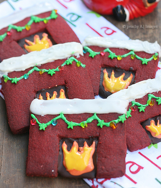 Red Velvet Fireplace Cookies