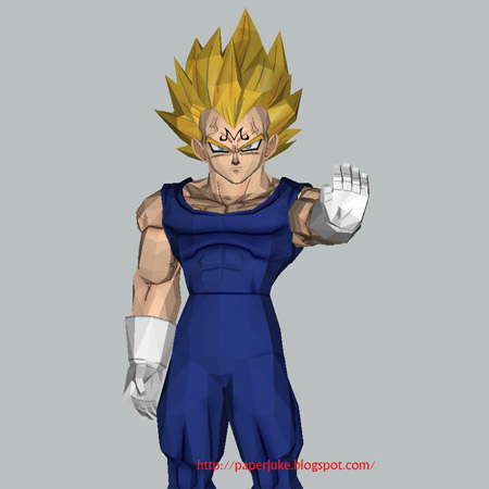 Dragon Ball Z - Majin Vegeta Papercraft