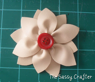 Handmade Leather Flower Tutorial by The Sassy Crafter