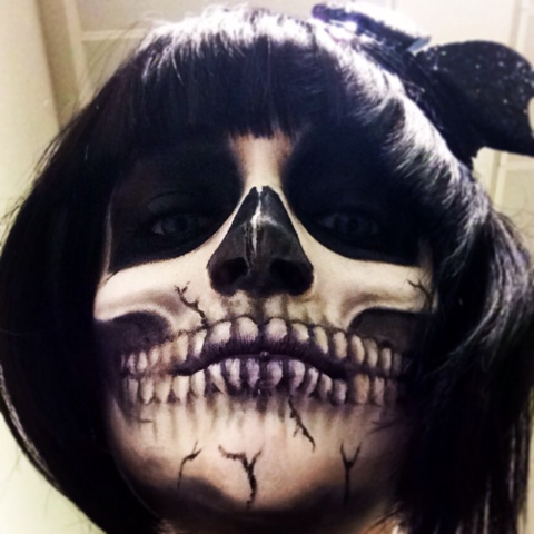 Halloween make up, skull, skull make up, Halloween skull, fancy dress