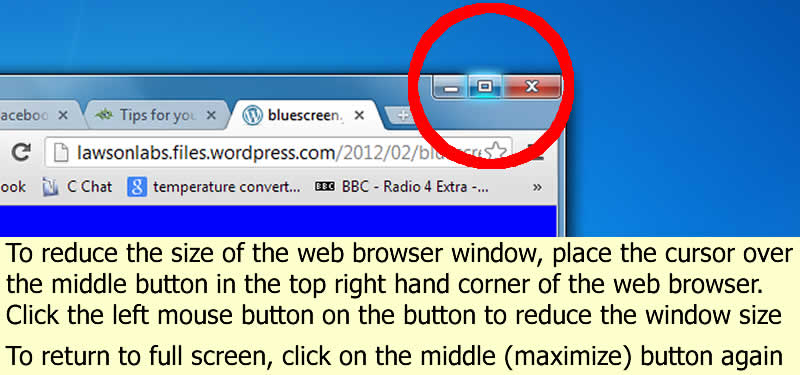 Minimise a window by clicking on the minimise window button