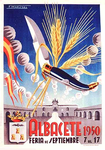 Cartel Feria Albacete 1950