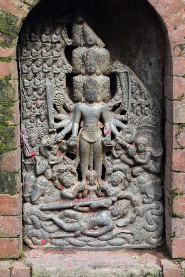 Beautiful Vishwaroopam statue at Changgu Narayan Temple, Nepal