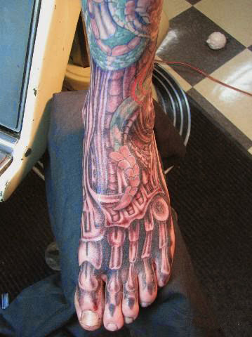 biomechanical tattoos designs