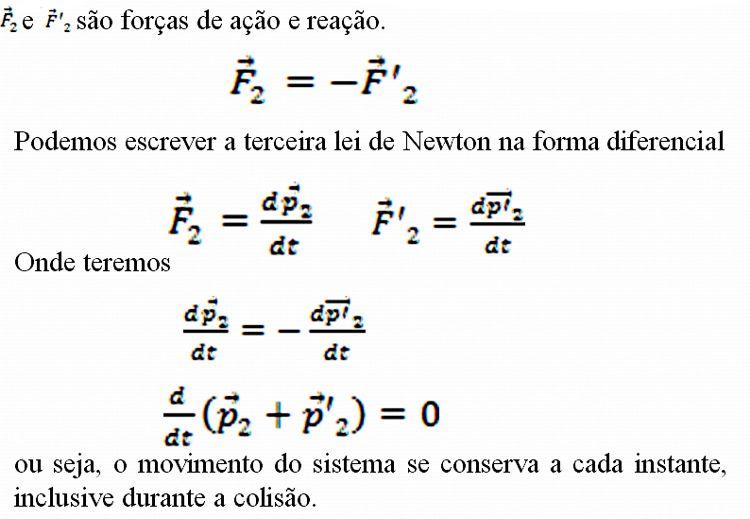 formula terceira lei de newton