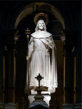 Estatua de San Esteban en el interior de la Basílica de San Esteban en Budapest (Wikipedia)