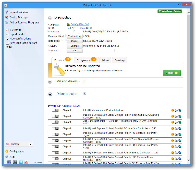 Screenshot of DriverPack Solution 13 R317 v.13.03.5 Final Full Utility Tools PC Software Free Download at Alldownloads4u.Com