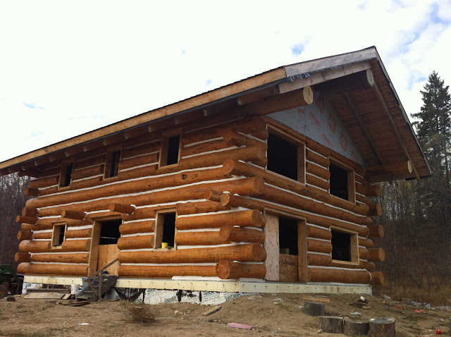 30x40 2 story log home for How to build a butt and pass log cabin