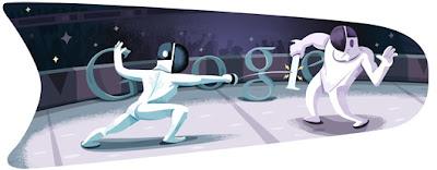 Google Doodle Fechten
