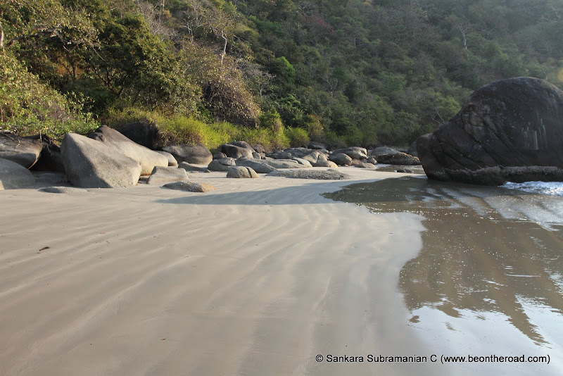 The remote sands of Honeymoon Beach