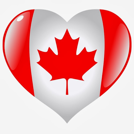 Heart-shaped Canada flag for Canada Day: O Canada...the True North strong and free!