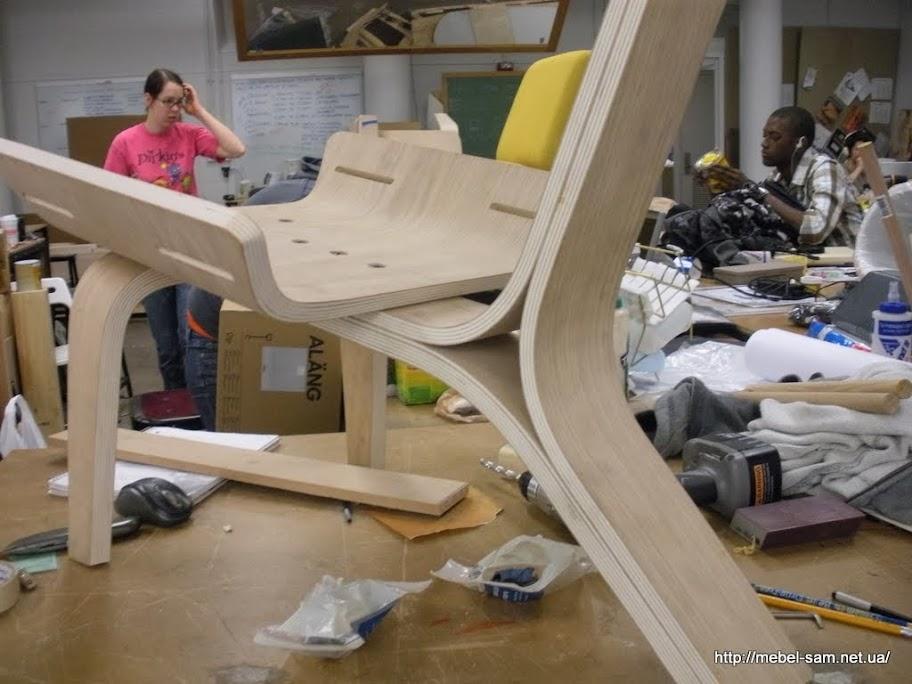 Фанерное кресло в сборе